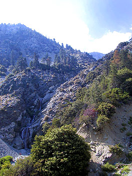 angeles national forest - waterfall