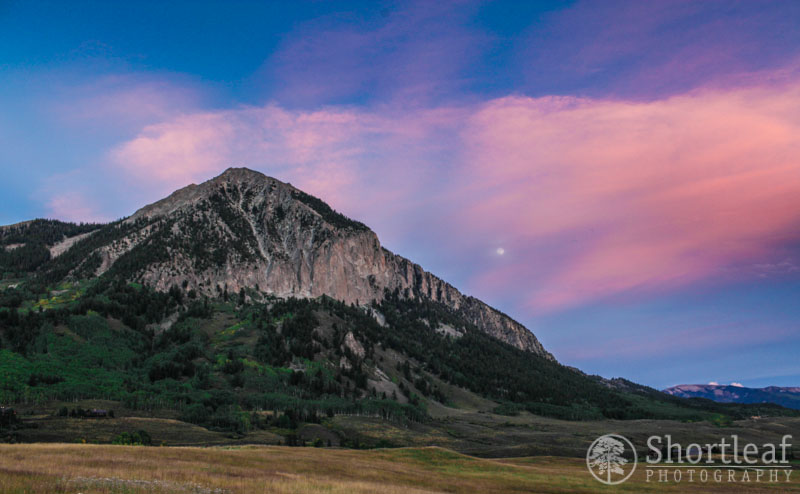 Here we have Mt. Crested Butte just after sunset.