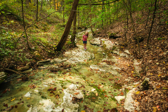Emma loves hiking along and over rocks, so naturally she opted to take the detour through the mostly dry stream bed for much of the second half of the trail.