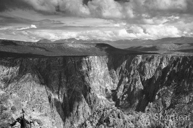 Black Canyon of the Gunnison.  Again, the scattered clouds made for interesting patterns of light.